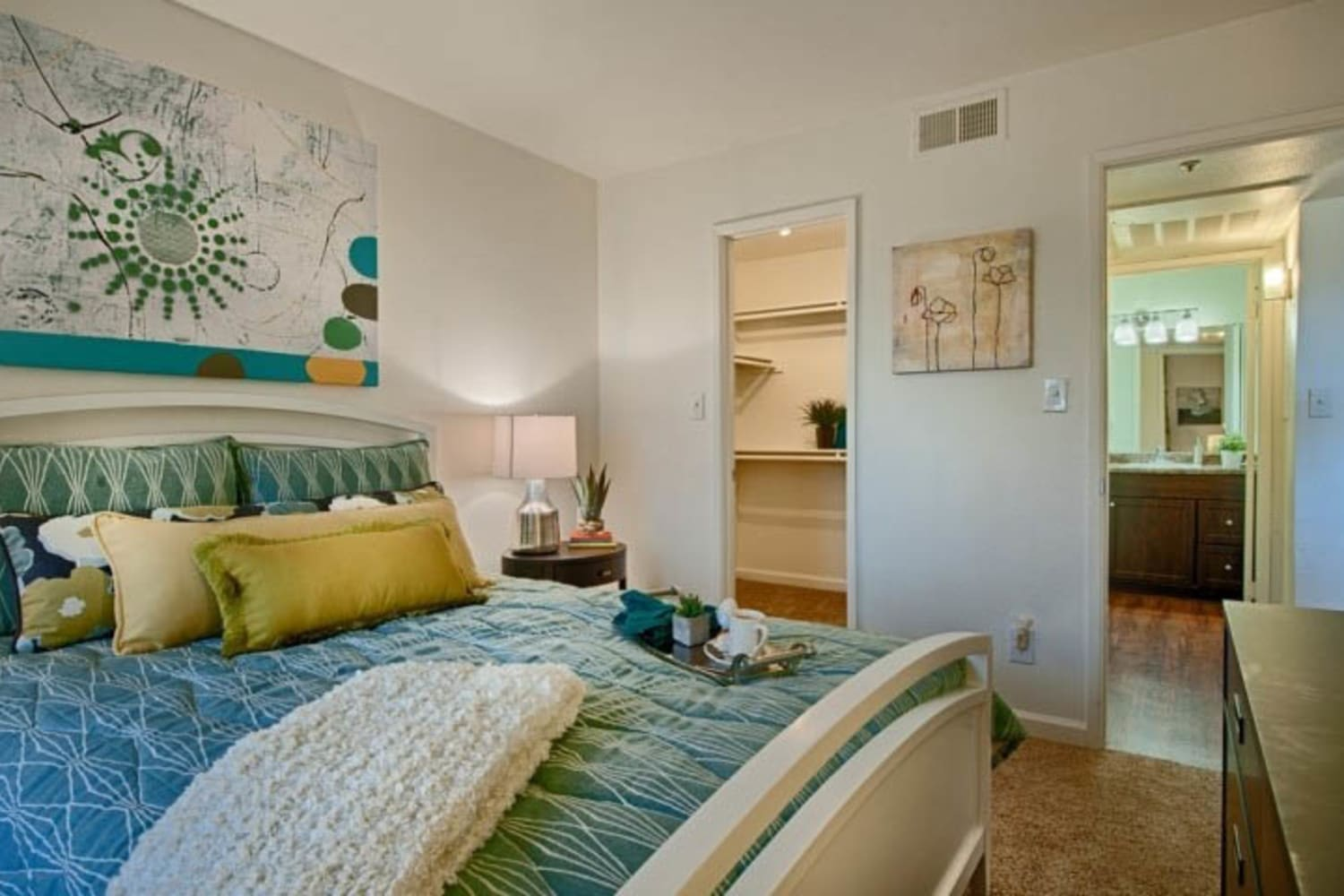 Large bedrooms at Cabrillo Apartments in Scottsdale, Arizona