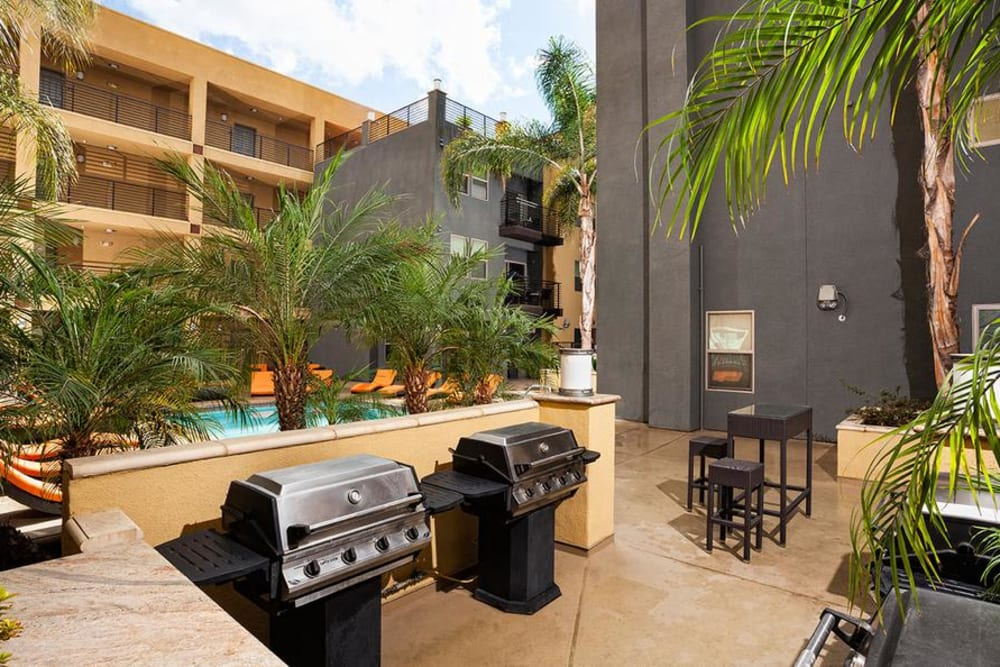 Grilling Area at Avana North Hollywood Apartments in North Hollywood, CA