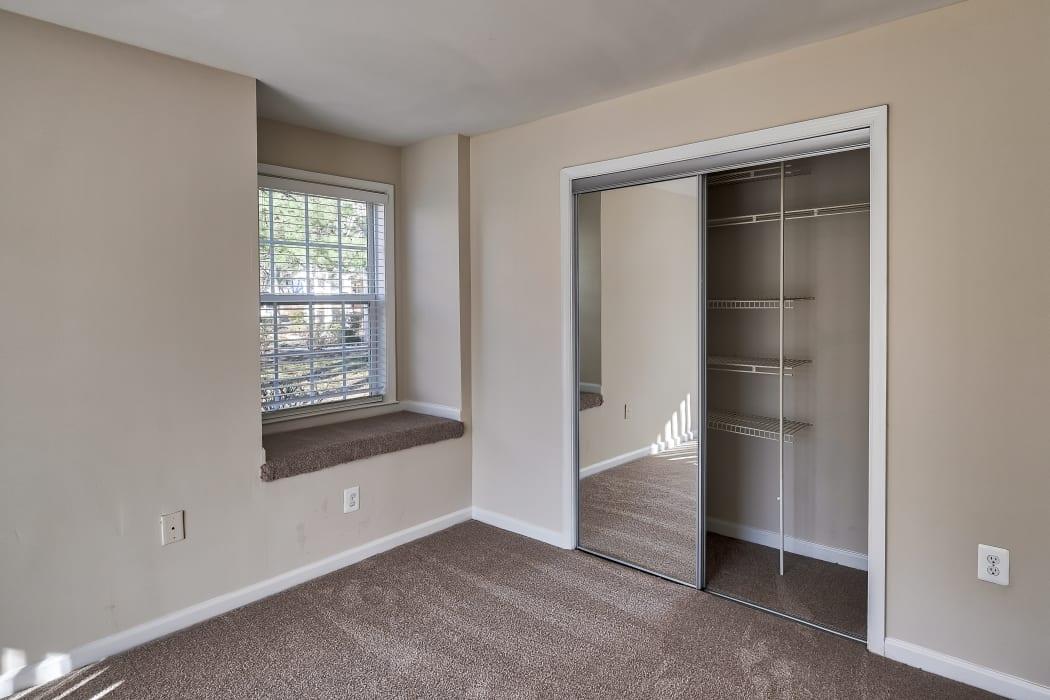 Closet area at Abbotts Run Apartments in Alexandria, Virginia.