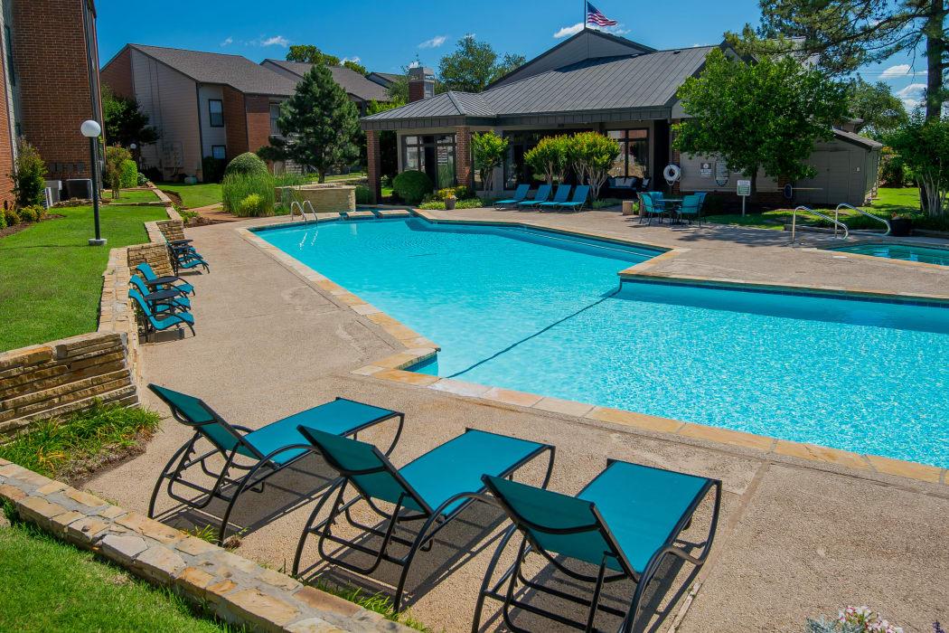 Swimming pool at Hunter's Ridge in Oklahoma City, Oklahoma