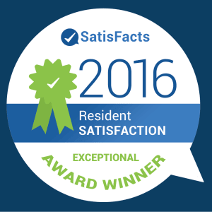 ComCapp in San Antonio, Texas was a Satisfacts Resident Satisfaction Exceptional Award Winner in 2016