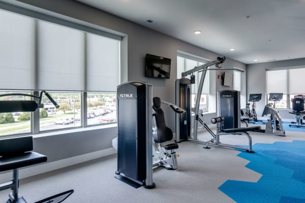 Workout room at The Barton in Clayton, Missouri