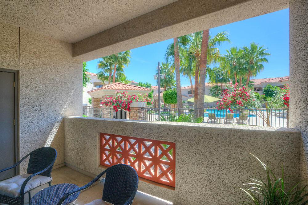 Private balcony at San Prado in Glendale, Arizona