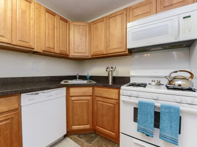 Modern kitchen at apartments in Dover, Delaware
