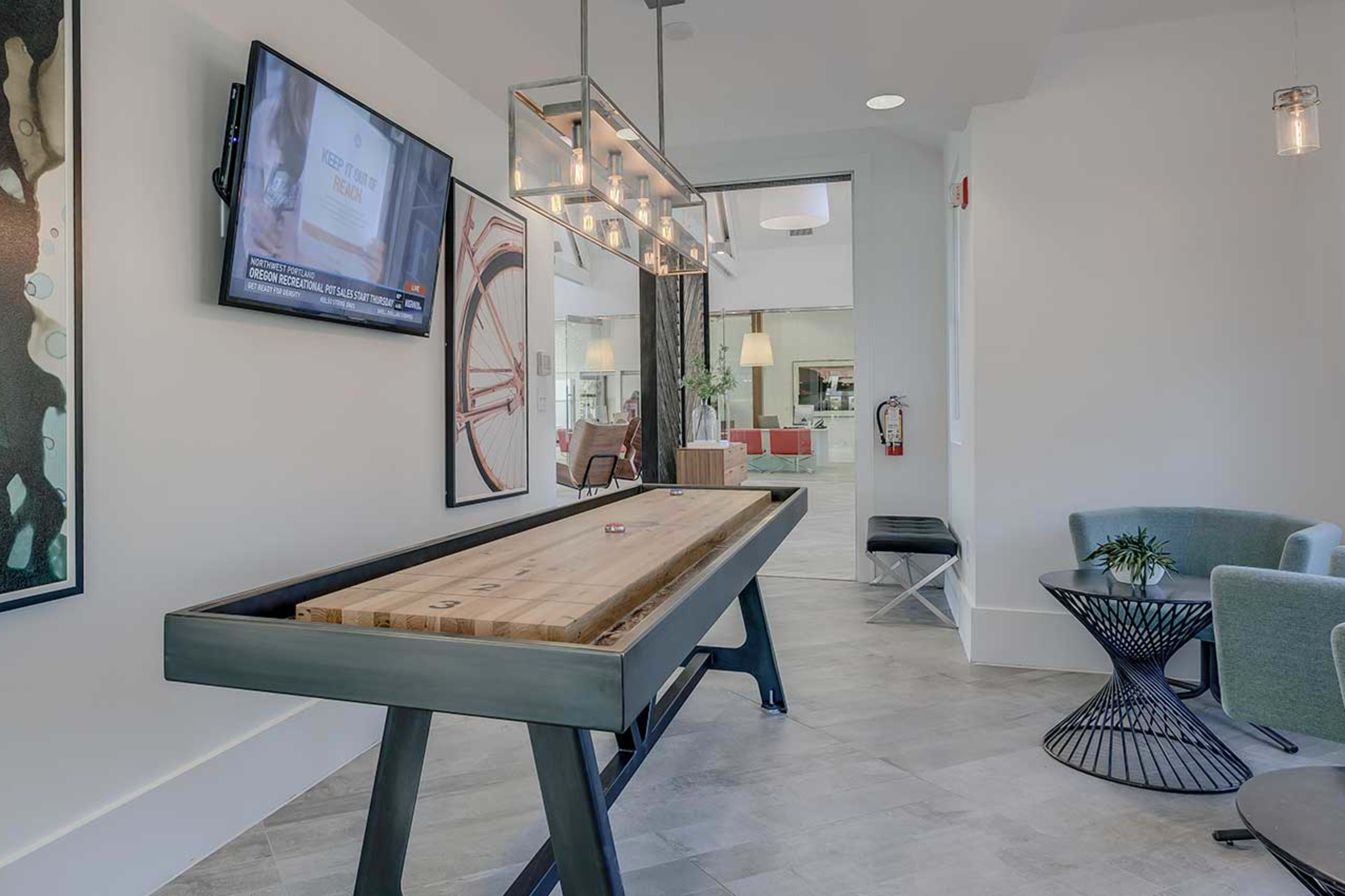 Game room at Centro Apartment Homes