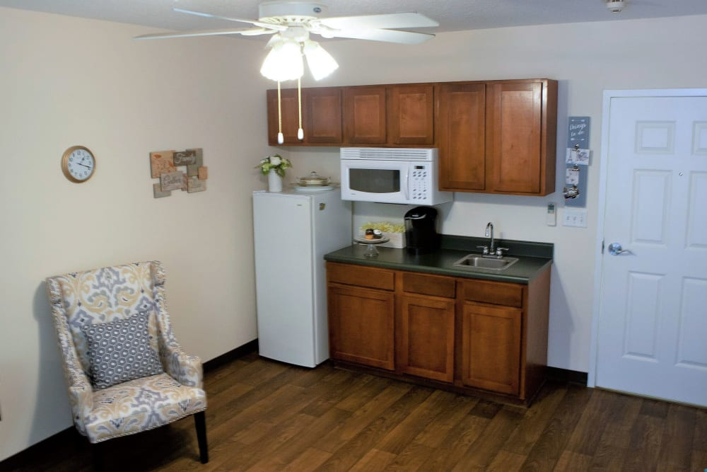 A kitchen at The Grande in Brooksville, Florida