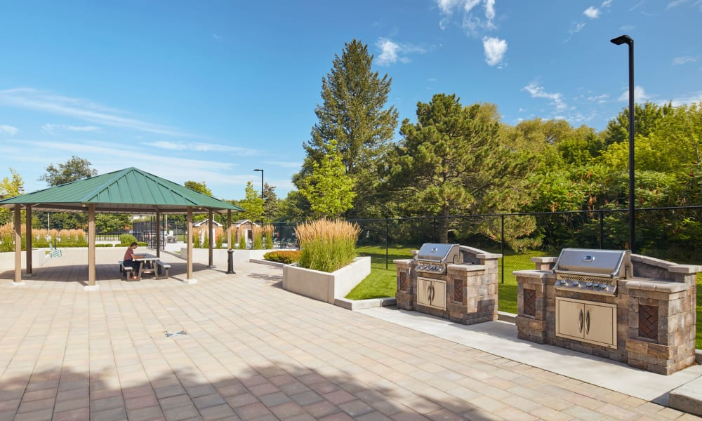 Gazebo and grilling station at Applewood on the Park in Mississauga, Ontario