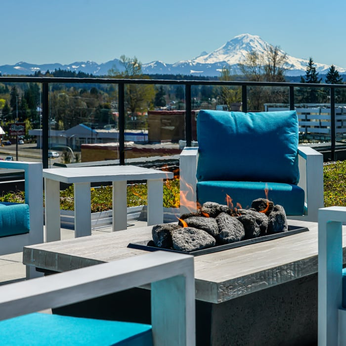 Rooftop lounge at The Verge in Auburn, Washington