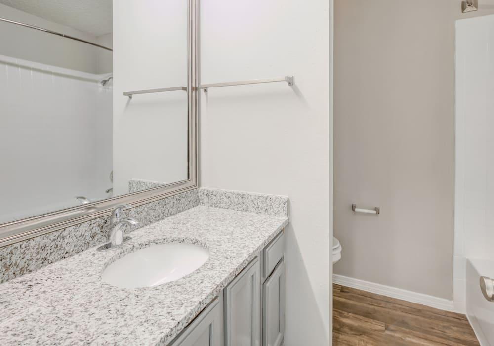 Modern Bathroom at Turtle Creek Vista Apartments in San Antonio, Texas