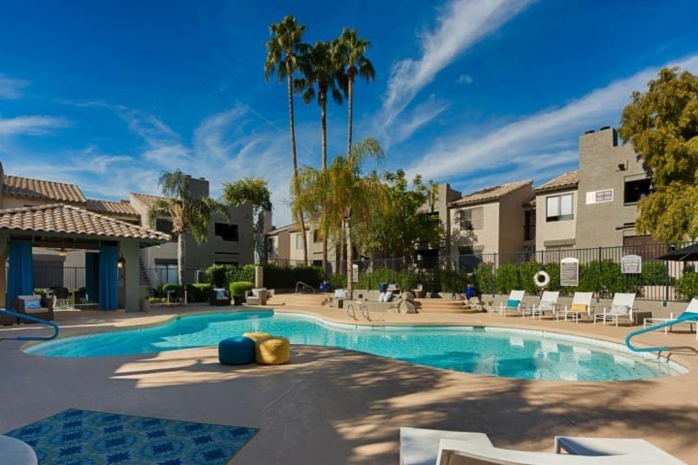 Cabrillo Apartments offer a swimming pool in Scottsdale, Arizona