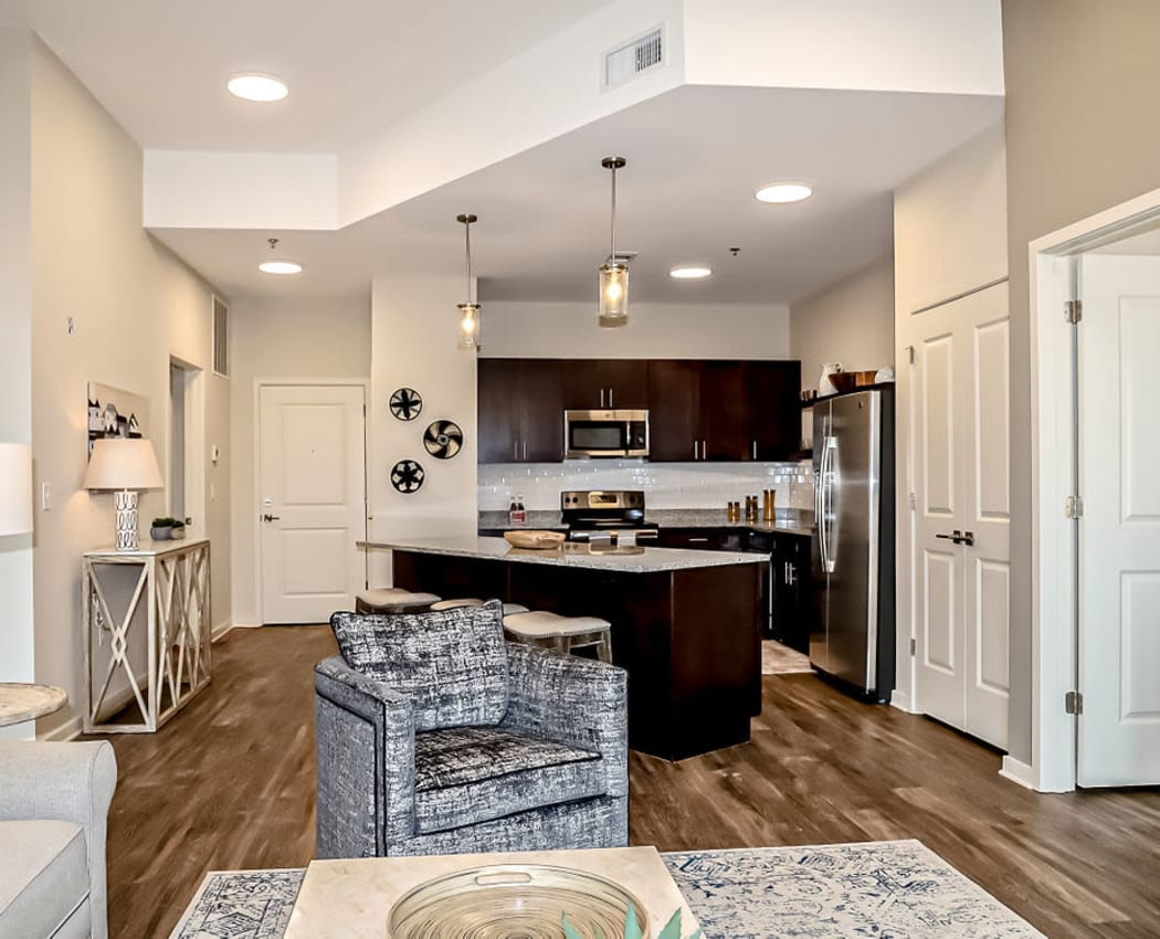 Modern floor plan at The Station at River Crossing in Macon, Georgia