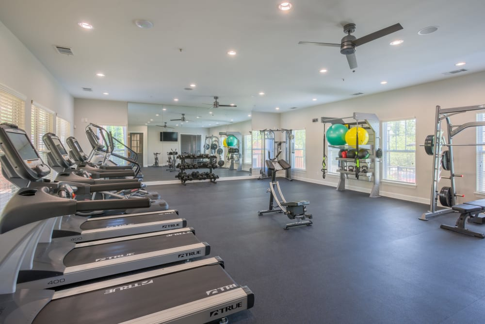 State of the Art fitness center at The Vive in Kannapolis, North Carolina