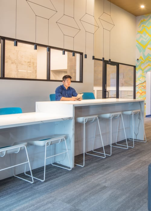 Community study space at RISE on Apache in Tempe, Arizona