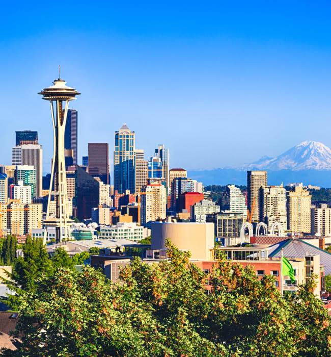 Space needle near Marq West Seattle in Seattle, Washington