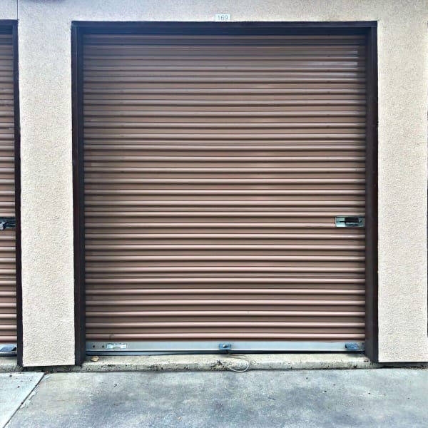Outdoor storage units at StorQuest Self Storage in Arvada, Colorado