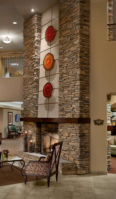 Fireplace at McDowell Village in Scottsdale, Arizona