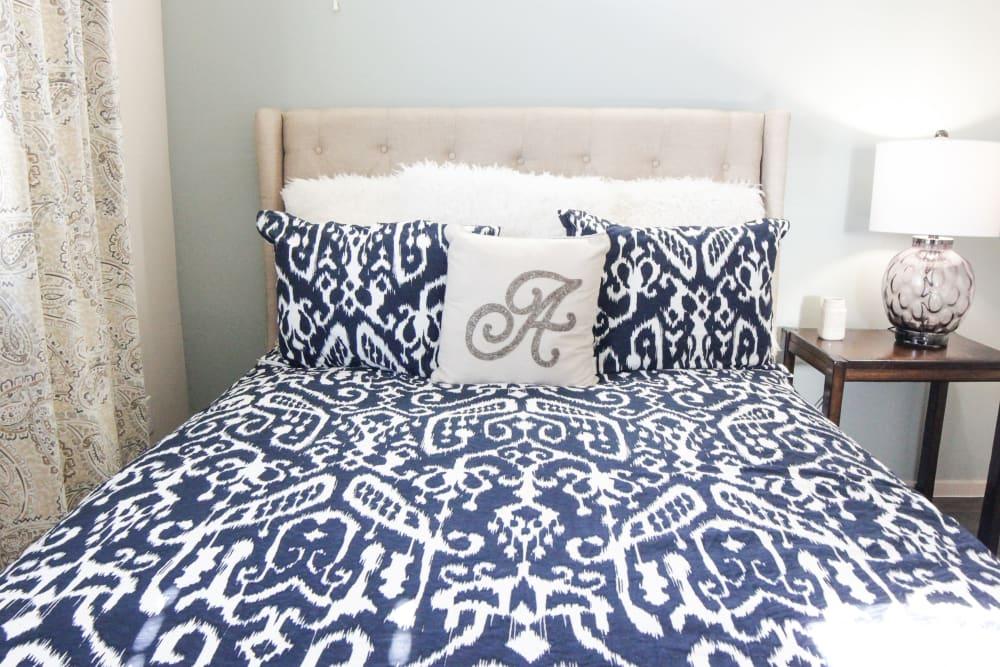 Model bedroom at Avilla Town Square in Gilbert, Arizona