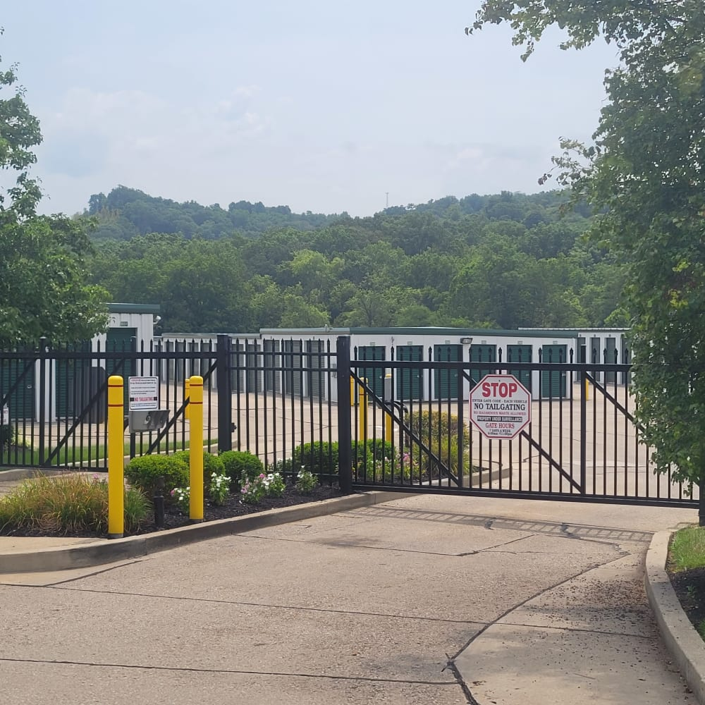 A security gate at 3L Self Storage in Fort Wright, Kentuckyl