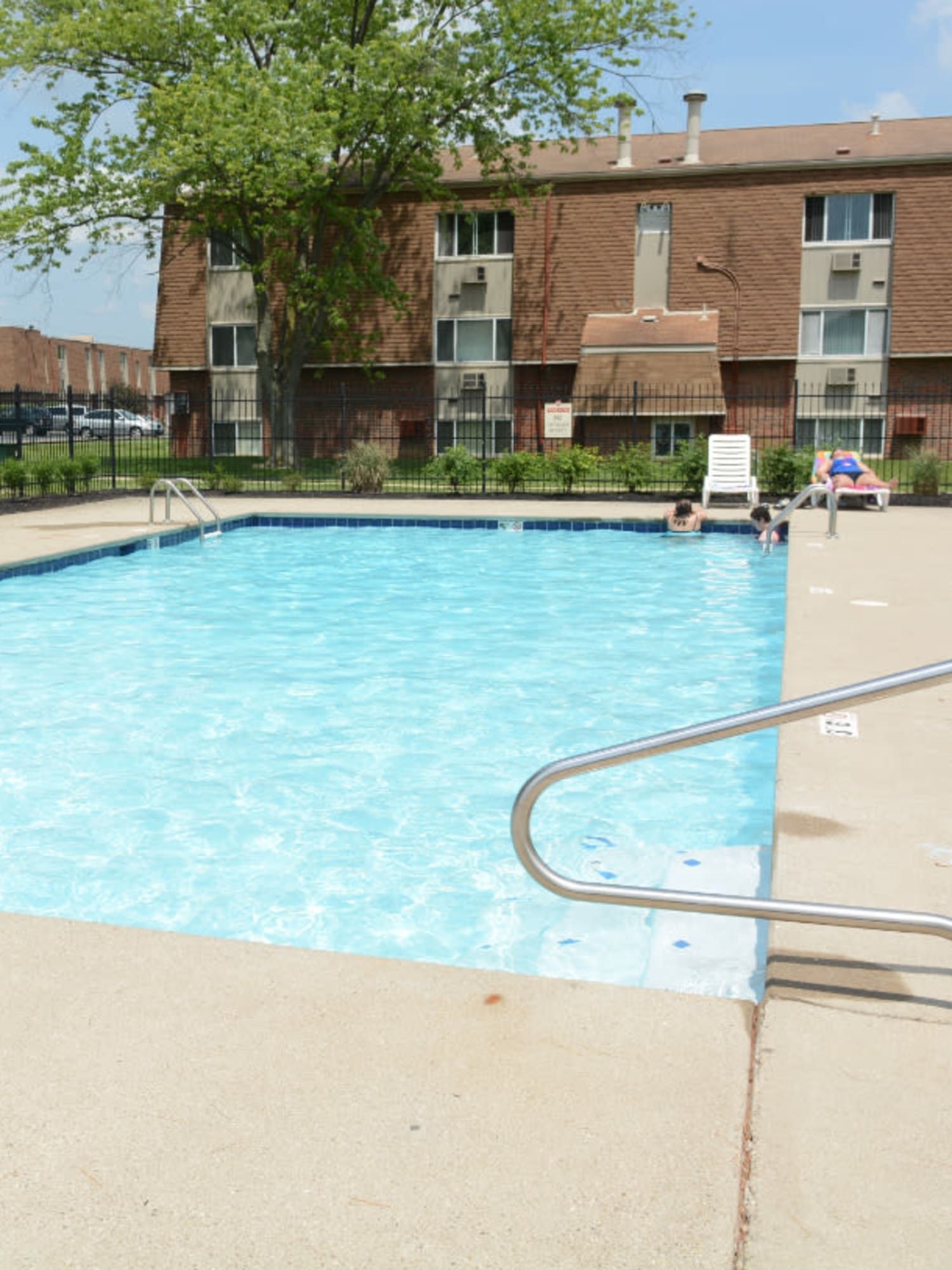 A large swimming pool at Northgate Meadows Apartments in Cincinnati, Ohio