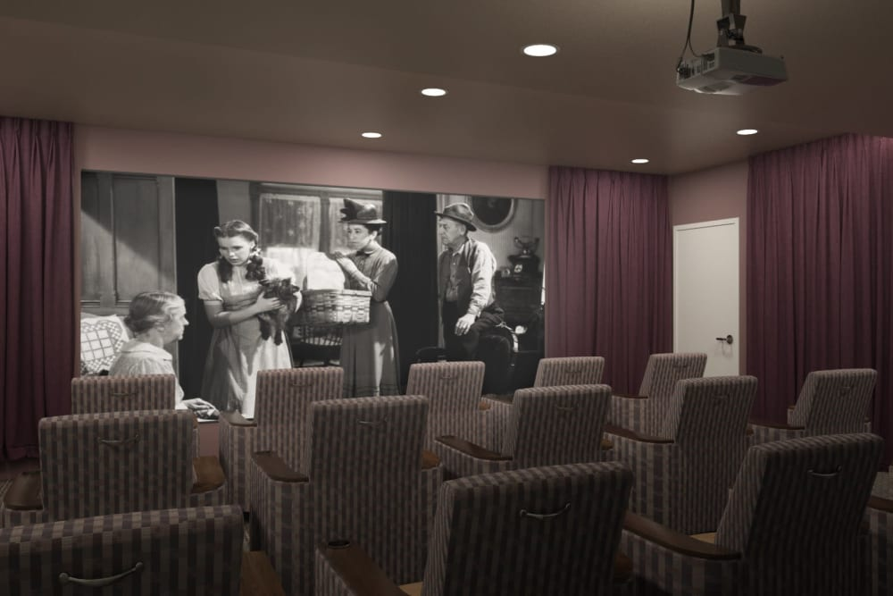 Resident theater for residents at Anthology of Midlothian in North Chesterfield, Virginia