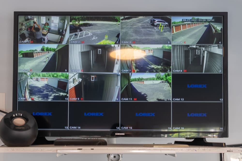 Security camera monitoring at Victory Personal Storage in Yorktown, Virginia