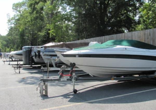 Boat parking at Monster Self Storage in Wando, South Carolina