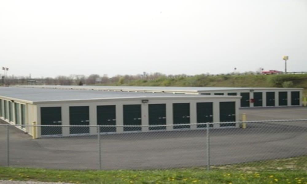 Gated storage units at Etna Storage in Pataskala, Ohio