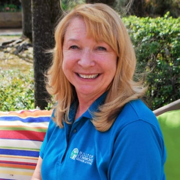 Andrea Wheeler, Housekeeper and Driver at Hilltop Commons Senior Living in Grass Valley, California