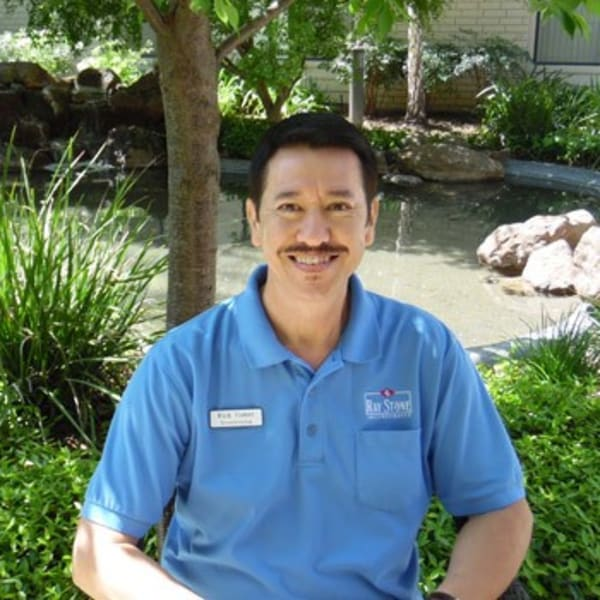 Rick C, housekeeper and evening porter at Campus Commons Senior Living in Sacramento, California