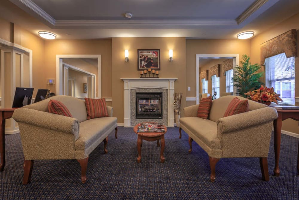 Lobby at All American Assisted Living at Washington Township