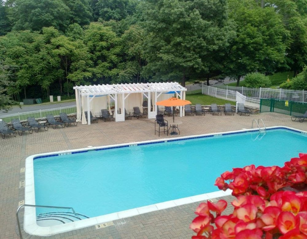 Sparkling swimming pool at Vista Point Apartments in Wappingers Falls, New York