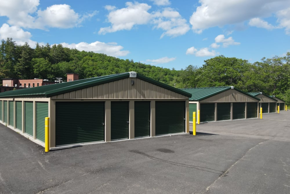 Plenty of drive-up space at 603 Storage - West Milford in Milford, New Hampshire