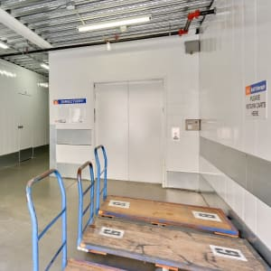 Carts make storing easier at A-1 Self Storage in San Diego, California
