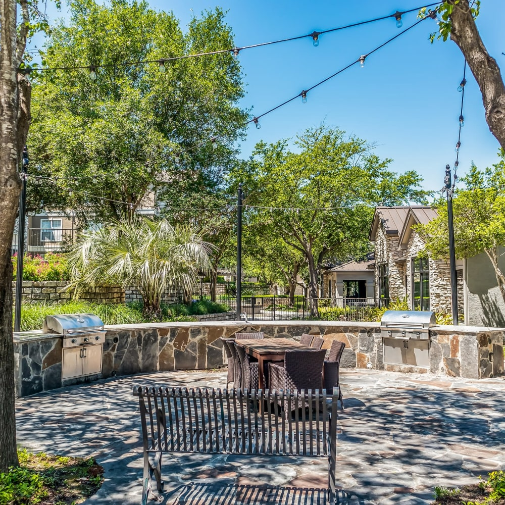 Outdoor patio and grill at Beck at Wells Branch in Austin, Texas