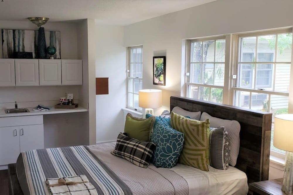 Bedroom at Wood Haven Senior Living in Tewksbury, Massachusetts