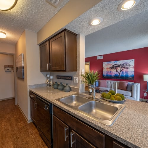 View virtual tour for 1 bedroom 1 bathroom apartment at Ridgeview Place in Irving, Texas