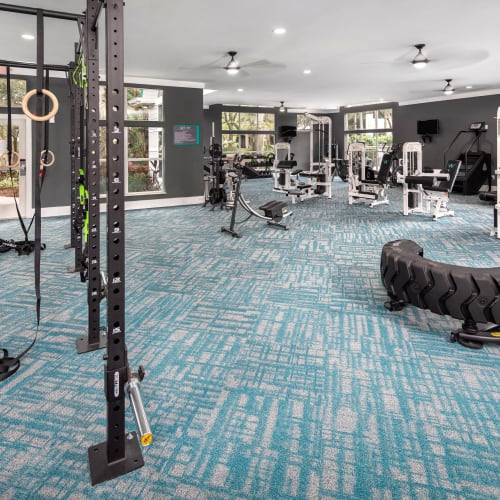 View virtual tour our fitness center at Amira at Westly in Tampa, Florida