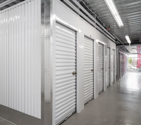 Interior storage hallway of StorQuest Express - Self Service Storage in Sacramento, California