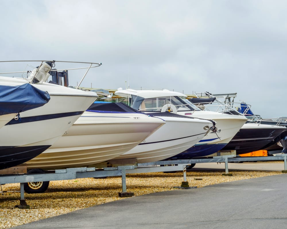 Boat storage at Advantage Storage -  Panther Creek in Little Elm, Texas