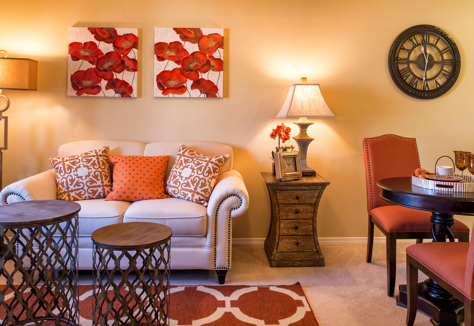 Living room at The Commons at Union Ranch in Manteca, California
