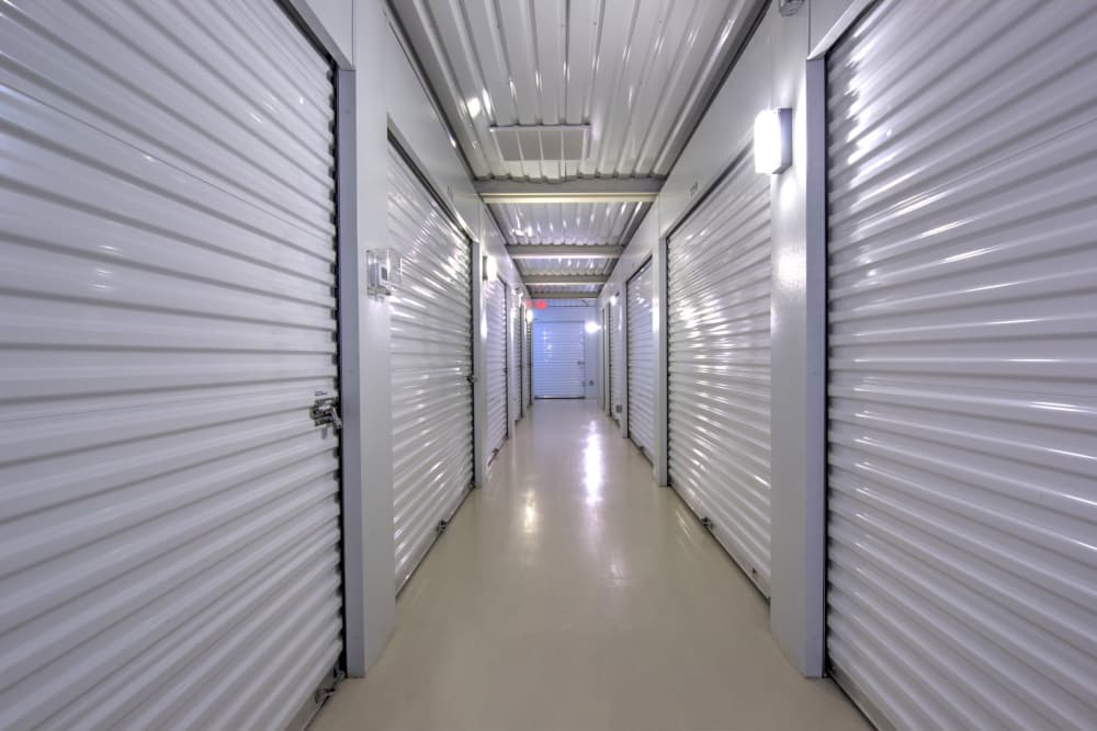 Indoor storage units at Prime Storage in Glen Allen, Virginia