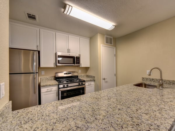 Fully equipped kitchen at Antelope Vista in Antelope, California