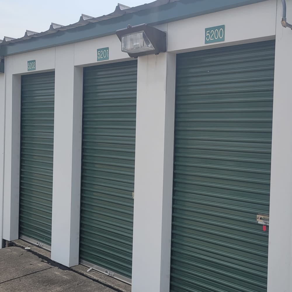 Covered RV and boat storage at 3L Self Storage in Fort Wright, Kentucky