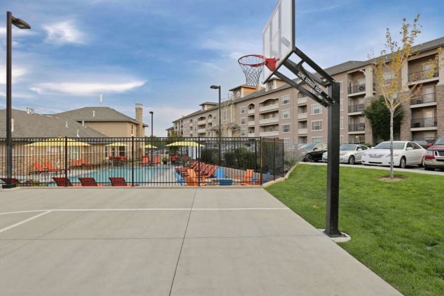 Basketball court at Meadowbrook Station Apartments in Salt Lake City, Utah