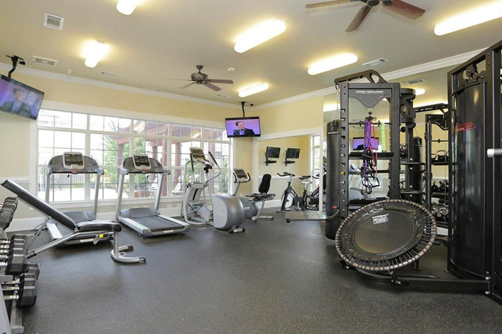 Fitness center at Atlanta apartments