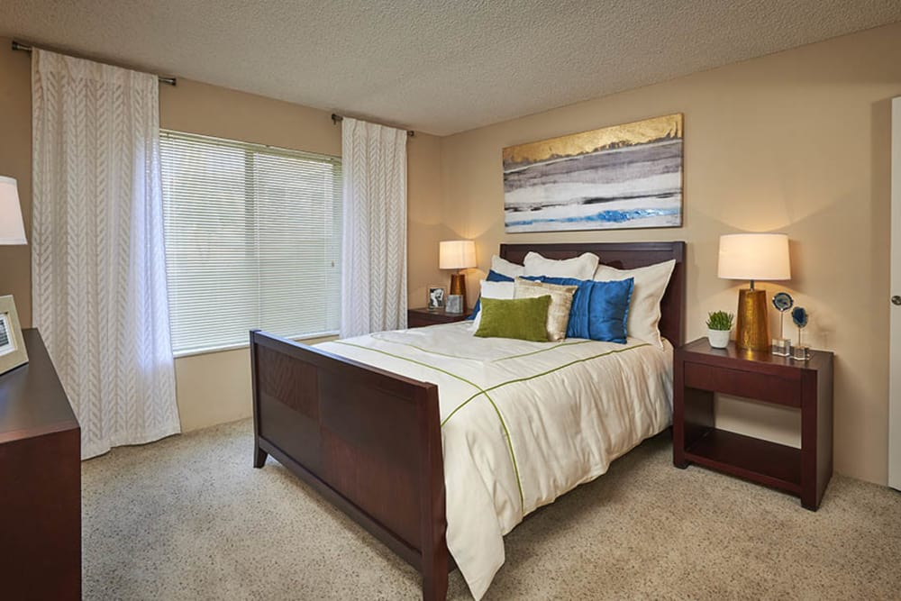 Bedroom at Alton Green Apartments in Denver