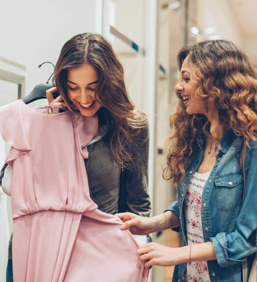 Friends shopping near Magnolia Heights in San Antonio, Texas