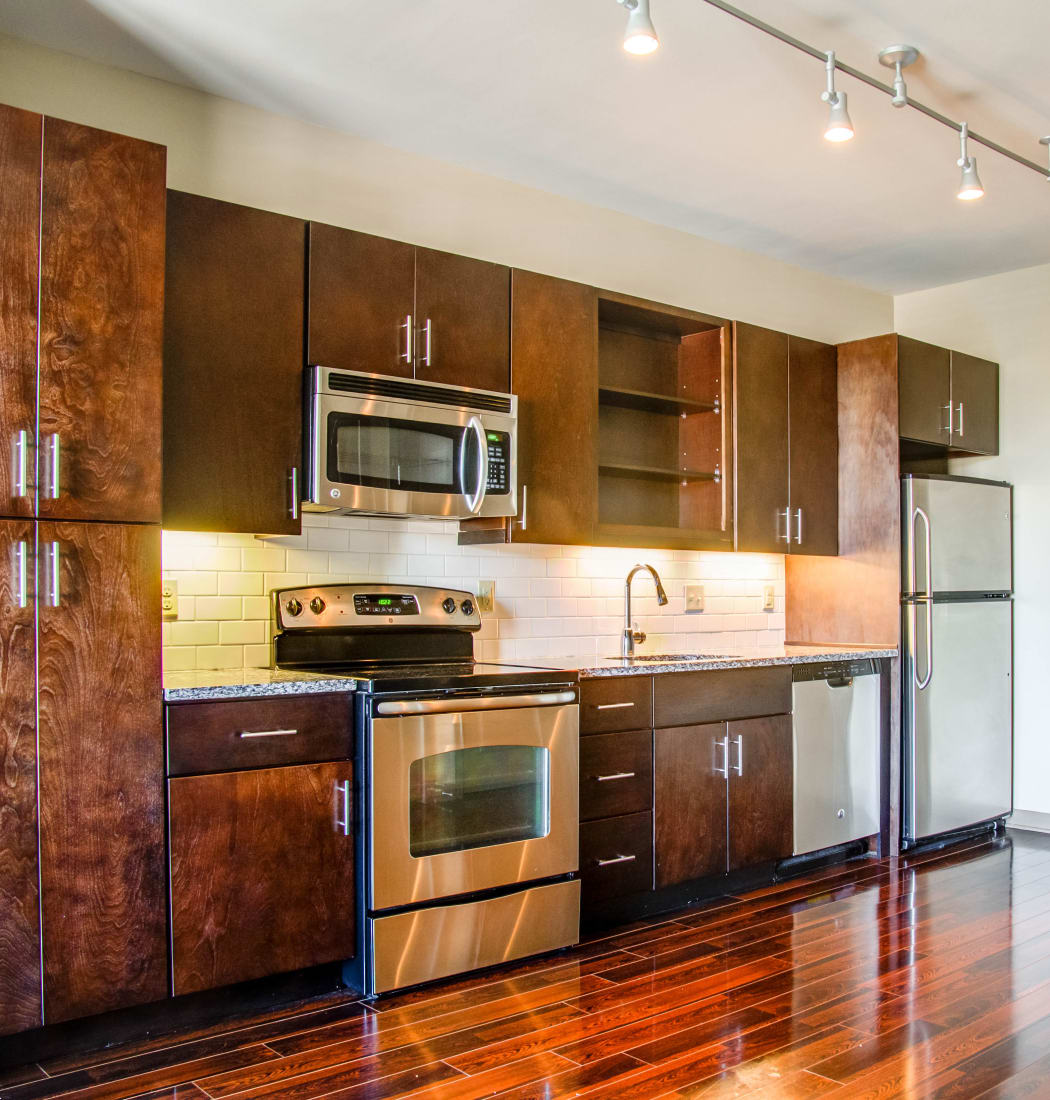 Apartment features at 12 South Apartments in Nashville, Tennessee