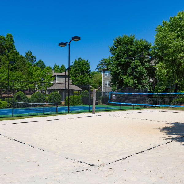 Tennis courts and sand volleyball courts at The Vinings at Newnan Lakes in Newnan, Georgia