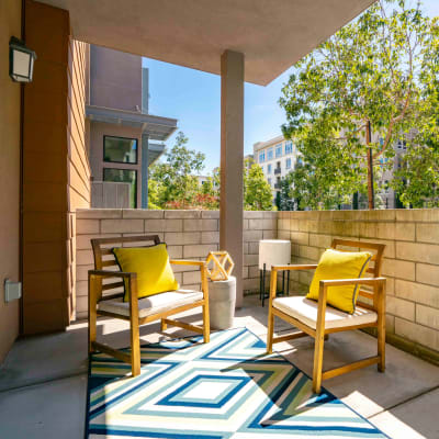 Patio at Sofi Riverview Park in San Jose, California